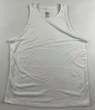 Nike Dri Fit Tank Top L White Loose Fit Cami Athletic Scoop Neck Sleeveless