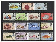 Mauritius - 1969/73, 5c - 10R Fisch (weniger 2C, 3C, 4C) - F/U - SG 385/99