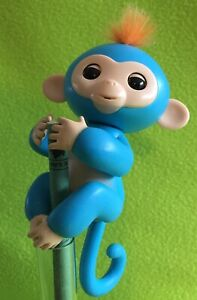 Blue Monkey FINGERLING - Very Good Working Condition - WowWee Kids Toy.