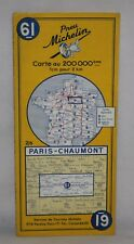 France - Michelin 1:200,000 Map - Paris & Chaumont - Sheet 61 - 1960