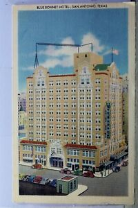 Texas TX San Antonio Blue Bonnet Hotel Postcard Old Vintage Card View Standard