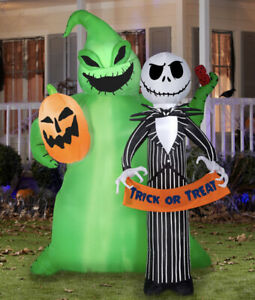 Pre-Order The Nightmare Before Christmas Jack & Oogie Decoration Air-blow Up
