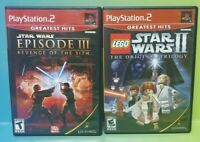 Star Wars Episode III + Lego Trilogy - PS2 Playstation 2 Game Lot Works Complete