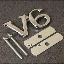 Alta Calidad Cromo V6 Parrilla Insignia Emblema Logo Etiqueta Metal Auto van Rejilla v6g