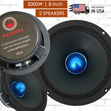 Gravity 2) PRO 8 Inch Classic Midrange Loud Speaker 4-Ohms - 2000 Watts Max pair
