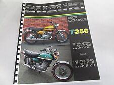 Suzuki T350 parts manual  1969 1970 1971 1972