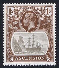 Ascension 1924 SG18b 1/- Grey-Black & Brown TORN FLAG Superb U/M Cat. £400.00
