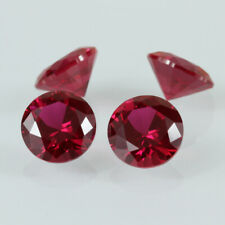 RUBY - ROSE RED - Cubic Zirconia Round Brilliant Cut Loose Stones