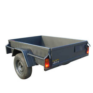 6x4 Heavy Duty Trailer With 15'' High Sides   Brand New Tyres   Australian Made