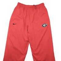 Nike Georgia Bulldogs Men's Large Red Lined Wind Track Pants NCAA