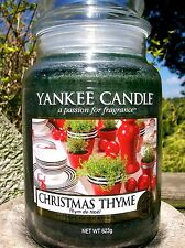 """Yankee Candle """"CHRISTMAS THYME""""  22 oz. European Release ~ NEW!"""