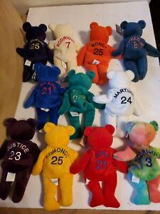 LOT OF 11 SALVINO'S BAMMERS MLB BASEBALL1998 BAMM BEANOS BEANIE BABY BEARS