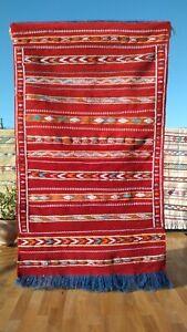 Moroccan handmade Kilim rug, authentic Highest Quality Berber Carpet 61'' X 36''