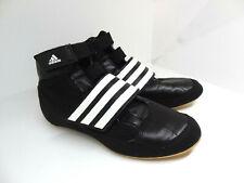 adidas Boys Boxing Wrestling Black White Boots Shoes Uk 4 - 36 2 / 3