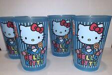 Zak! Set Of 4 Hello Kitty 8 Oz PLASTIC Drinking Glasses Cups New