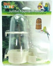 Penn Plax Fountain Feeder for Birds Jumbo Size Fit to Cage Small & Medium Birds