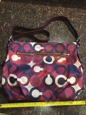 Coach Purse Logo Purple Pattern Handbag Authentic