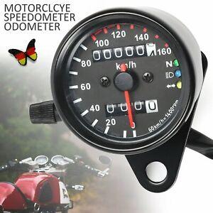 12V Universal Motorrad Odometer Kilometerzähler Tachometer LED Kontrollleuchten