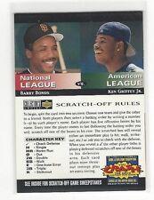 1994 COLLECTORS CHOICE BASEBALL YOU CRASH THE GAME BARRY BONDS / KEN GRIFFEY JR.