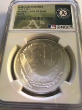 2014 Baseball HOF HALL FAME Proof Silver $1  NGC MS70 Oakland Athletics A's
