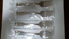 Ben Franklin by Towle Sterling Set of 4 Salad Forks Brand New