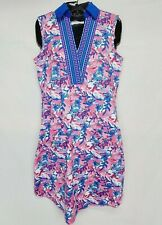 Jofit UPF Floral Embroidered Activewear Dress Golf Size XS Print Pink Blue