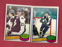 1980-81 TOPPS LEAFS SITTLER + SALMING  CARD