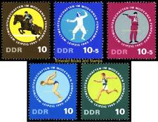 EBS East Germany DDR 1965 Modern Pentathlon Championships Michel 1133-1137 MNH**