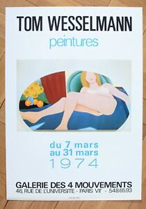 TOM WESSELMANN EXHIBITION POP ART POSTER AFFICHE GALERIE DES 4 MOUVEMENTS 1974