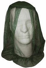 Olive Drab Fine-Knit Mesh Polyester Mosquito & Insect Head & Face Netting Net