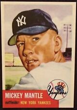 1953 MICKEY MANTLE TOPPS BASEBALL REPRINT MINT CARD NY.YANKEES #82