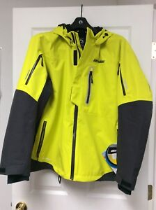 Ski-doo Helium 30 Yellow Coat Sz Large Lg Jacket Winter 4406930926 ski-doo coat