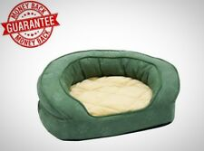 Pet Products Deluxe Ortho Bolster Medium Green Paw Print Sleeper Dog Bed New