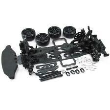 Black 1/10 Alloy & Carbon SAKURA D4 RWD Drift Car Frame Body Kit #KIT-D4RWD