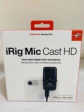 IK Multimedia iRig Mic Cast HD Condenser Microphone (IP-IRIG-CASTHD-IN)