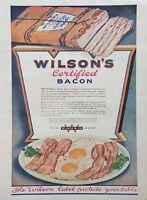 1920 Wilsons Bacon Eggs Photo Art Breakfast Chicago Vintage Print Ad