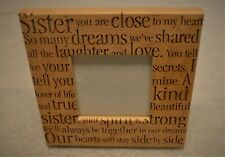 """Sister you are close to my heart Engraved Wooden Picture Frame 3.25"""" x 3.25"""""""