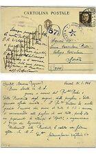 Cartolina Postale da C.30 da CASALE MONFERRATO 2/1944 usata in RSI (bp5)