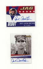 JAG 2006 Julie Caitlan Brown Autograph Lot (2) A14 & D14 as Sgt. Carrington
