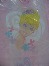 """Mattel 2001 Barbie Twin Flat Bed Sheet Pink Ballet Dancer 64"""" x 96"""" Dan River"""