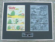 Tweety & Sylvester Vintage 1958 Printing Plate !