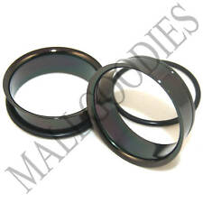 "0087 Black Single Flare Flesh Steel Tunnels Earlets Big Gauges 1-1/4"" Plugs 32mm"
