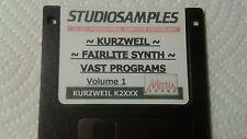 KURZWEIL ~ FAIRLITE SYNTH ~ Floppy Disk Format: K2XXX/K2VP/K2500/K2600 SYNTHS!