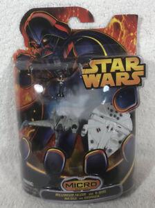 2005 Hasbro Star Wars Micro Vehicles: Millennium Falcon and B-Wing - New