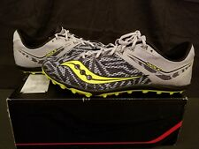 Saucony Havok Xc Mens Size 13 Track Cleats Black Grey Green No Spikes Shoes
