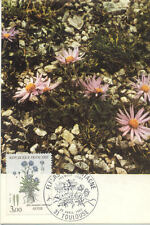 Carte 1er Jour TOULOUSE 23/04/1983 l'aster fleurs des pyrénées timbrée