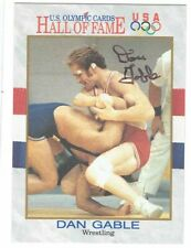 DAN GABLE Autographed Signed 1991 Impel Olympic Card