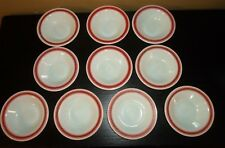 "(10) Pyrex Tableware by Corning Fleur de Lis 6 1/2"" Bowls"