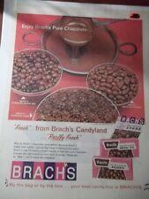 1965 VINTAGE PRINT AD BRACH'S CHOCOLATE CANDY 10X13 PEANUTS STARS BRIDGE MIX