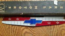 NOS GM 1955 Chevrolet Chevy Hood Emblem